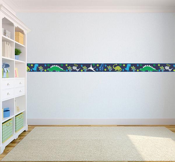 bedroom wallpaper border dinosaurs in the dark children 39 s bedroom