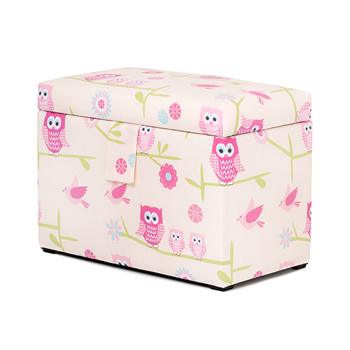 Childrens Jumbo Bedroom Room Tidy Toy Storage Chest Box Trunk: Children's Large Upholstered Wooden Toy Box Chest Soft