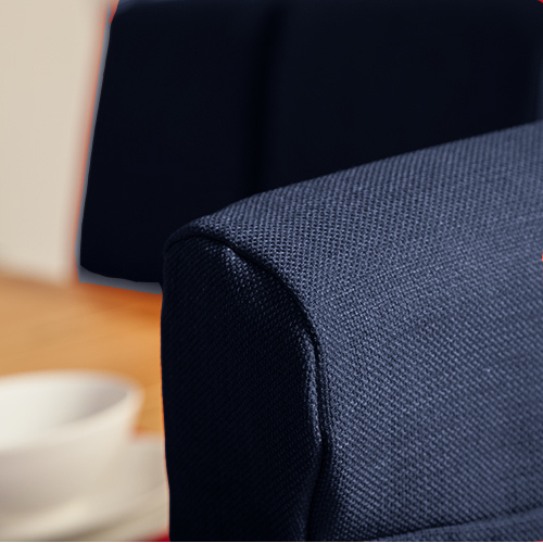1 x Mid Blue Fabric Dining Chair Covers for Scroll Top  : CS20SD120Linoso20Midnight7 from www.ebay.ie size 500 x 500 jpeg 175kB