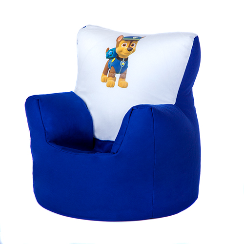 Paw patrol chase children 39 s kids bean bag chair seat boys for Kids tv chair