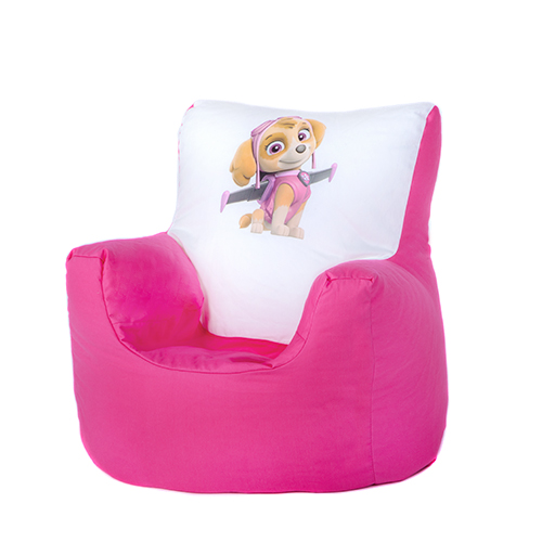 Paw patrol skye children 39 s kids bean bag chair seat girls for Kids tv chair