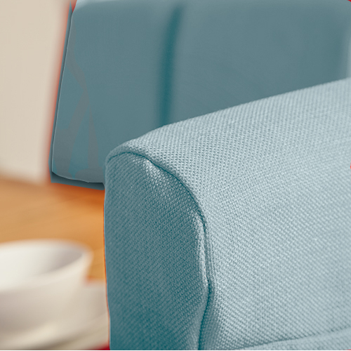 Set Of 4 Duckegg Fabric Dining Chair Covers For Scroll Top High Back Leather