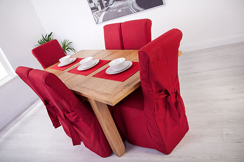 Fabric Slipcovers for Scroll Top High Back Leather Oak  : CS20SD120Linoso20Red4 from www.ebay.ie size 500 x 333 jpeg 72kB