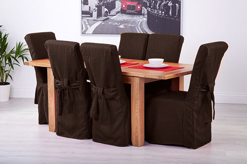 for scroll top high back leather oak dining chairs seat covers ebay