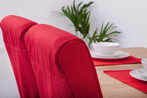 Set of 6 Red Linen Fabric Dining Chair Covers for Scroll  : CS20SD120Linoso20Red5 from www.ebay.pl size 500 x 333 jpeg 160kB