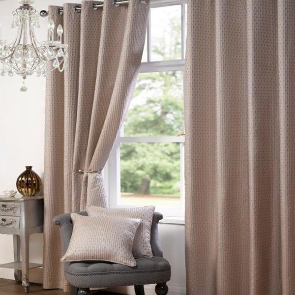 Heavy Textured Satin Jacquard Eyelet Ring Top Curtains Fully Lined Ready Made Ebay