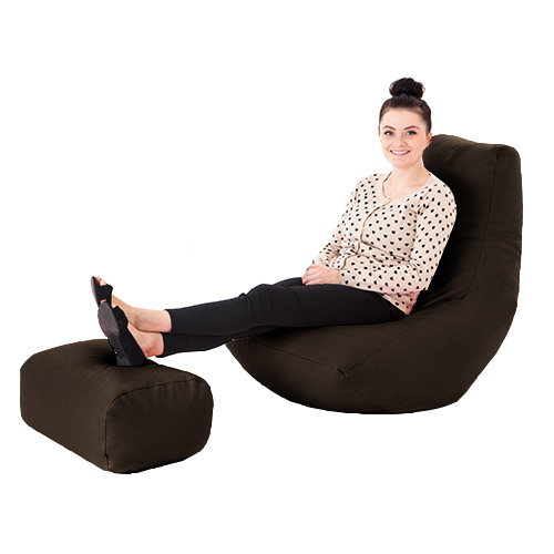 Faux-Leather-Filled-Bean-Bag-Gamer-with-Footstool-Lounger-Gaming-Chair-Recliner