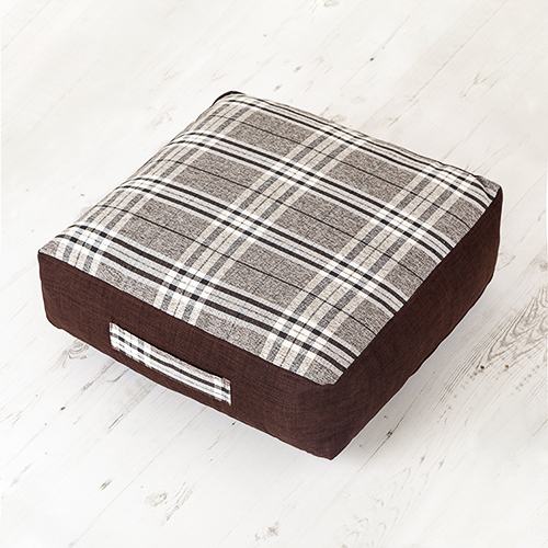 Tartan Woven Giant Floor Cushions Soft Foam Filled