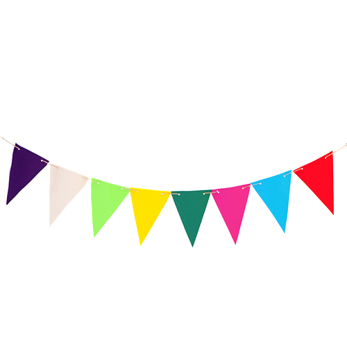 waterproof coated fabric outdoor garden bunting in choice of colours