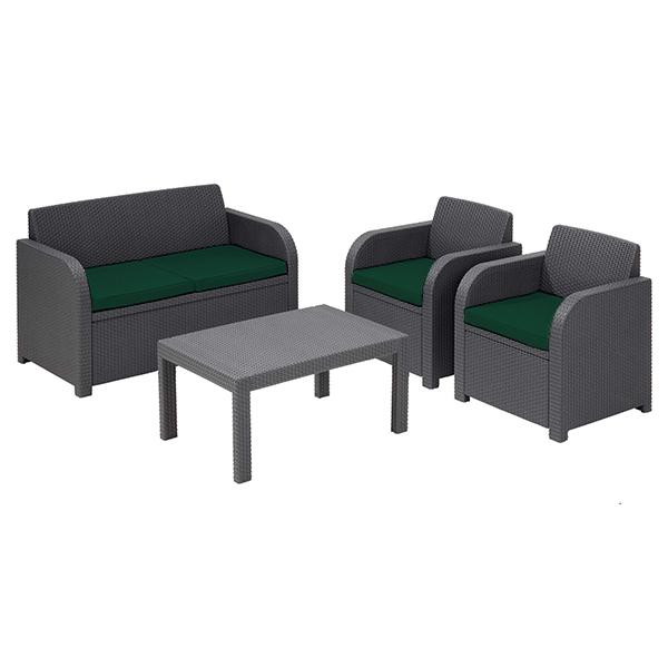 Replacement Cushion Set to fit Keter Allibert Carolina 4 Seater Garden  Furniture. Replacement Cushion Set to fit Keter Allibert Carolina 4 Seater