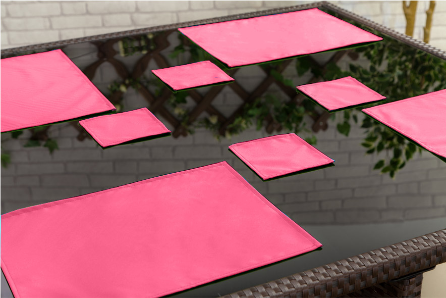 Outdoor Waterproof Garden Dining Table Cloths Place Mats  : GD205th20PINK from www.ebay.co.uk size 884 x 590 jpeg 127kB