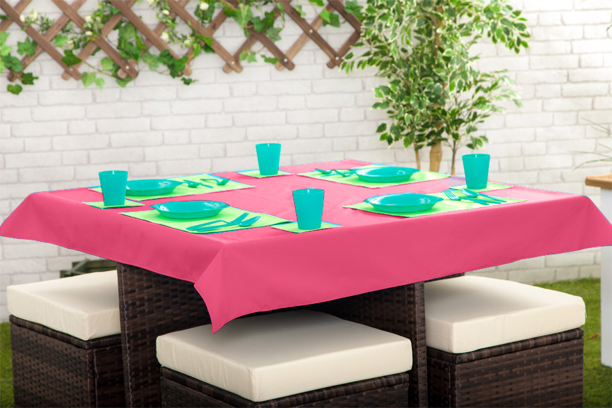 Outdoor Waterproof Garden Dining Table Cloths Place Mats