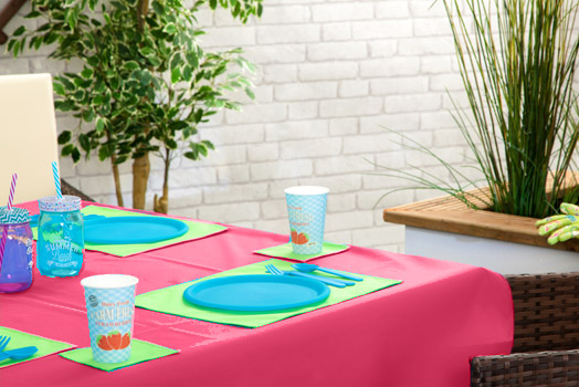 Outdoor Waterproof Garden Dining Table Cloths Place Mats  : GD202nd20PINK from www.ebay.co.uk size 524 x 350 jpeg 94kB