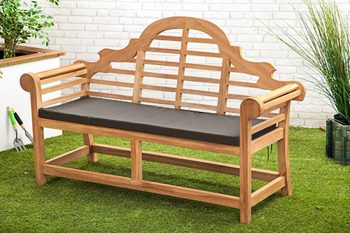waterproof cushion pads small lutyens teak bench garden - Garden Furniture Love Seat