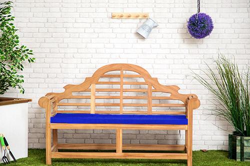 Waterproof Cushion Pads Large Lutyens Teak Sissinghurst Bench