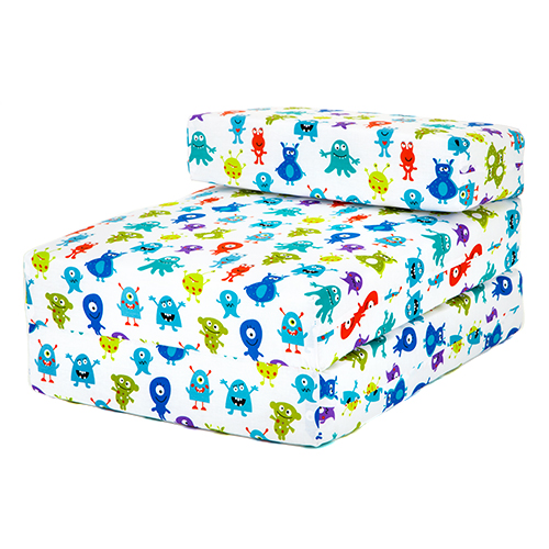 Kids Character Foam Fold Out Sleep Over Guest Single Futon Chair Sofa Z Bed S