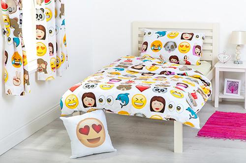 Children's Emoji Design Bedding Bedroom Collection Emoticons Kids Smiley Faces