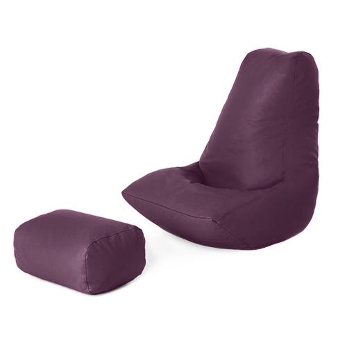 faux leather filled bean bag gamer with footstool lounger. Black Bedroom Furniture Sets. Home Design Ideas
