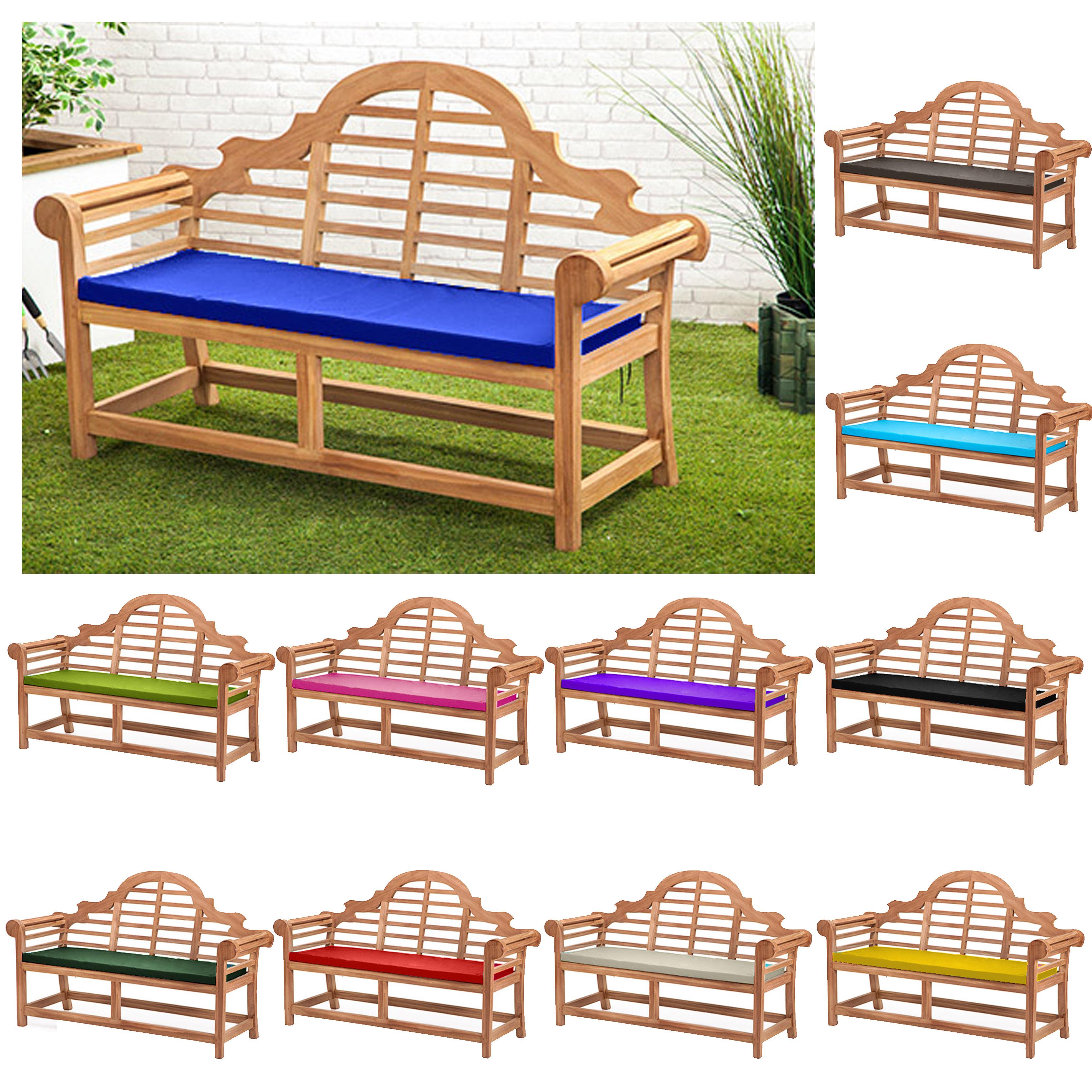 Waterproof Cushion Pads Small Lutyens Teak Bench Garden