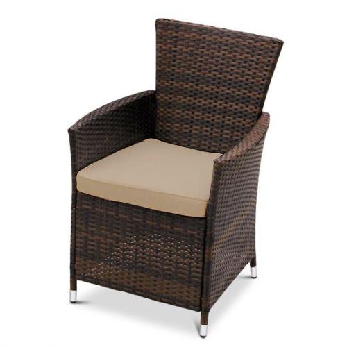ersatz esszimmerstuhl kissen passend f r rattan gartenm bel terrasse weiden ebay. Black Bedroom Furniture Sets. Home Design Ideas