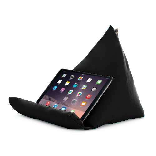 Black Tablet Book Rest Cushion Bean Bag Pillow Stand iPad ...