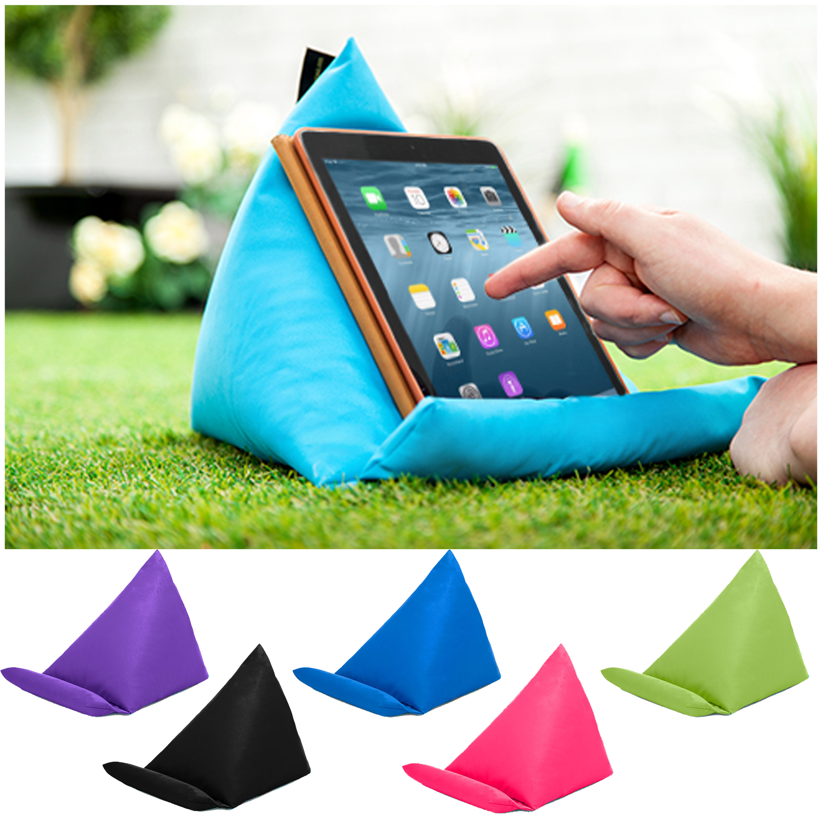 Tablet Book Rest Cushion Bean Bag Pillow Stand iPad Kindle ...