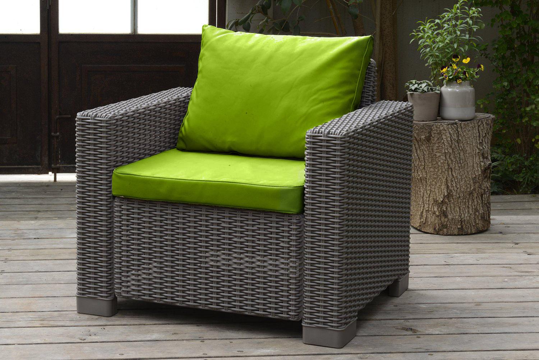 polsterkissen f r keter allibert kalifornien rattan gartenm bel sofa sessel ebay. Black Bedroom Furniture Sets. Home Design Ideas