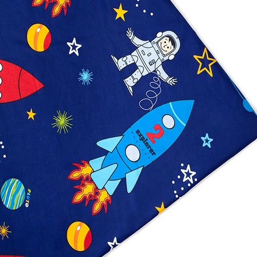 Childrens prints arts crafts upholstery sew fabric for Kids space fabric
