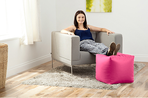 Faux-Leather-Cube-Bean-Bag-Pouffe-Foot-Stool-Beanbag-Footstool-Square-Kids-Seat