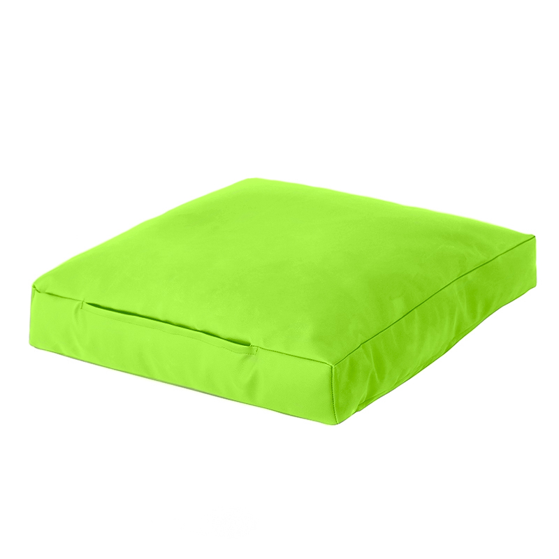 Lime faux leather bean bag square floor cushion seat beanbag lounge