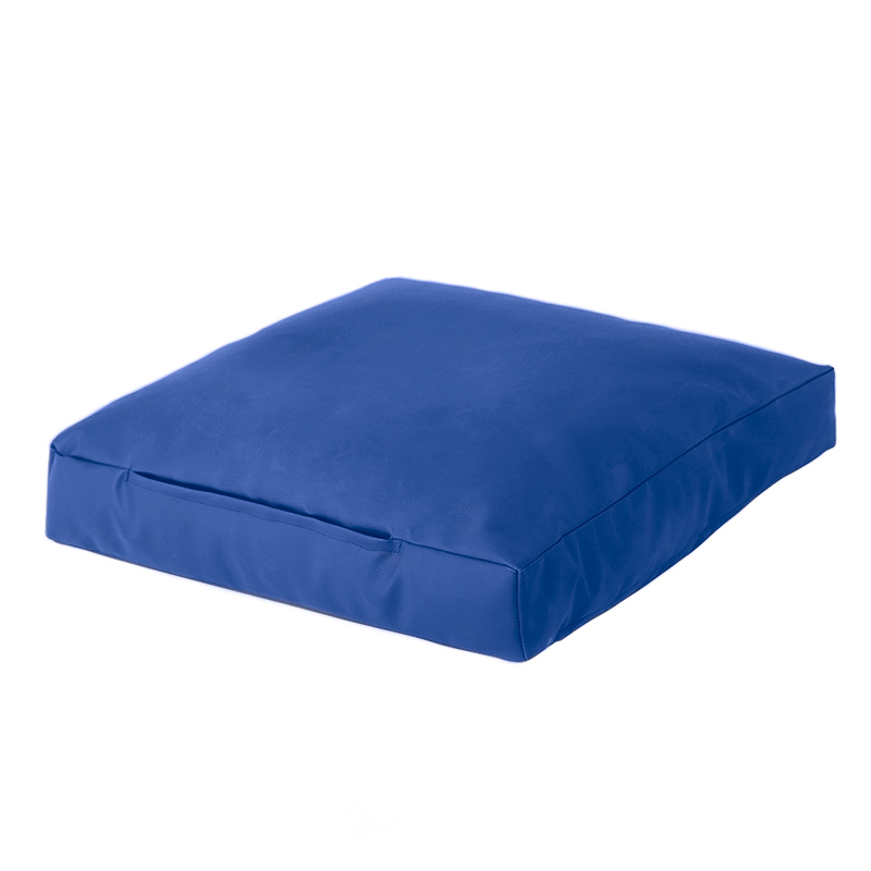 Floor Lounge Pillows : Blue Faux Leather Bean Bag Square Floor Cushion Seat Beanbag Lounge Large Slab eBay