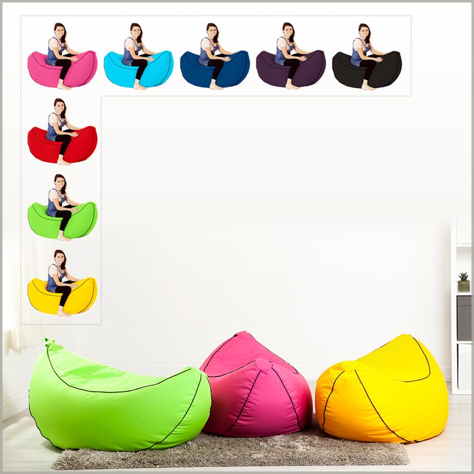 Banana game chair - Banana Bean Bag Big Gaming Seat Beanbag Large Lounger Gamer Chair With Filling