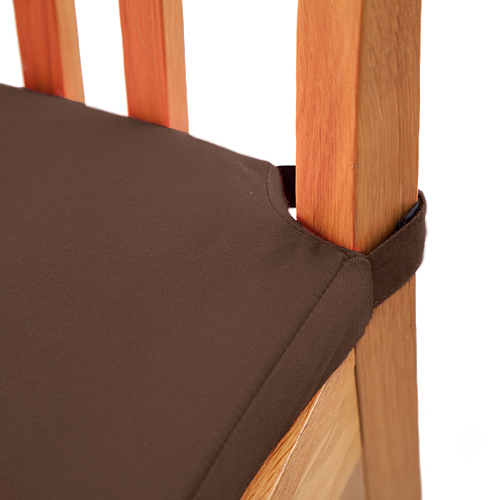 Chocolate 1 Pack Seat Pad Cushions Velcro Fastening Dining  : MG0083chocolate from www.ebay.co.uk size 500 x 500 jpeg 138kB