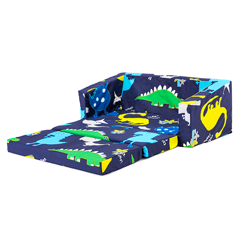 Dinosaurs Kids Flip Out Lily Sofa Bed Sleep Over Fold
