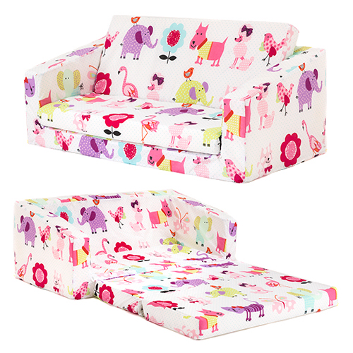 cute pets kids flip out 39 lily 39 sofa bed sleep over fold out children 39 s furniture ebay. Black Bedroom Furniture Sets. Home Design Ideas