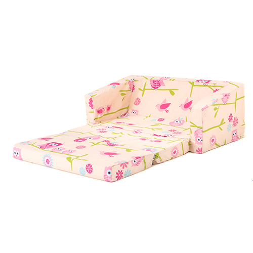 Owls kids flip out 39 lily 39 sofa bed sleep over fold out children 39 s furniture ebay Toddler flip out sofa couch bed