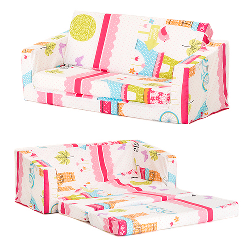 Lily Kids Flip Out Sofa Sleep Over Fold Chair Z Bed Mattress Childrens Furniture Ebay