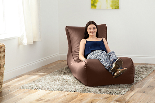 Faux-Leather-Lounger-Beanbag-Big-Bean-Bag-Kid-Adult-High-Back-long-Chaise-Lounge