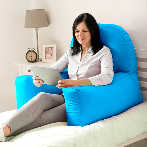 chloe bed reading bean bag cushion arm rest back support pillow rest tv lounger ebay. Black Bedroom Furniture Sets. Home Design Ideas