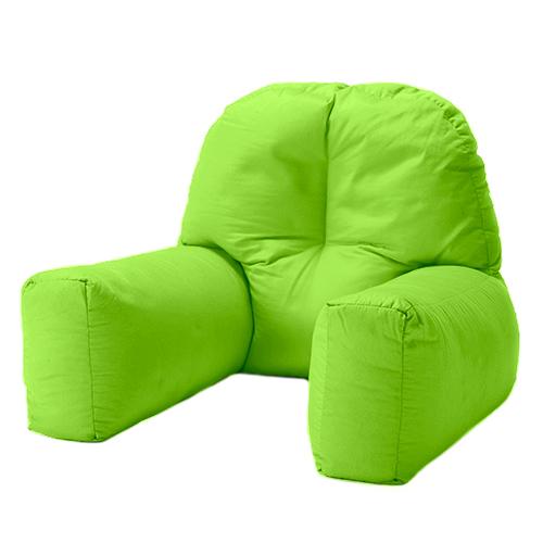 Lime Cotton Chloe Bed Reading Pillow Bean Bag Cushion Arm