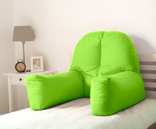 Lime Cotton Chloe Bed Reading Pillow Bean Bag Cushion Arm Backrest Back Support