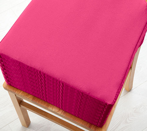 Pink 8 Pack Seat Pad Cushions Velcro Fastening Dining  : MG0080pink8packs from www.ebay.co.uk size 500 x 447 jpeg 37kB