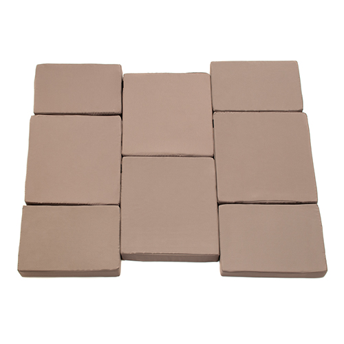 Taupe 8pc Rattan Garden Furniture Replacement Cushion Pads