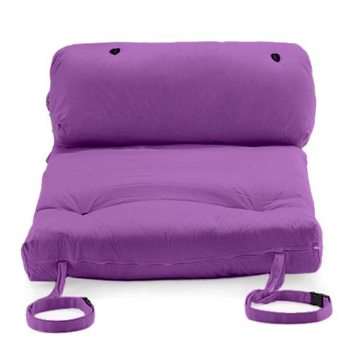 purple brooklyn roll out fold up futon mattress twill. Black Bedroom Furniture Sets. Home Design Ideas