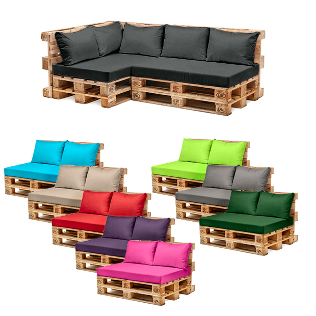 Pallet garden furniture cushions sets water resistant for Garden furniture seat cushion covers