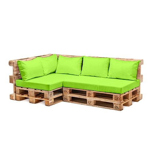 Palette meubles de jardin coussins ensembles r sistant l for Siege jardin palette