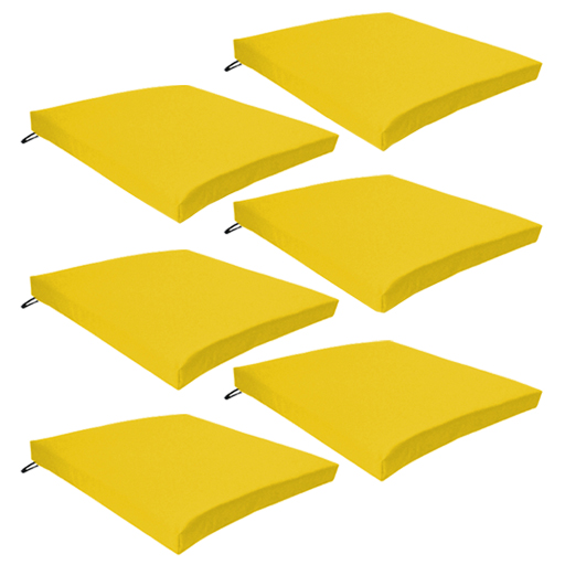 Yellow 6 Pack Seat Chair Cushion Outdoor Garden Tie On  : G120Seat20pad20yellow206pk from www.ebay.co.uk size 512 x 512 jpeg 141kB