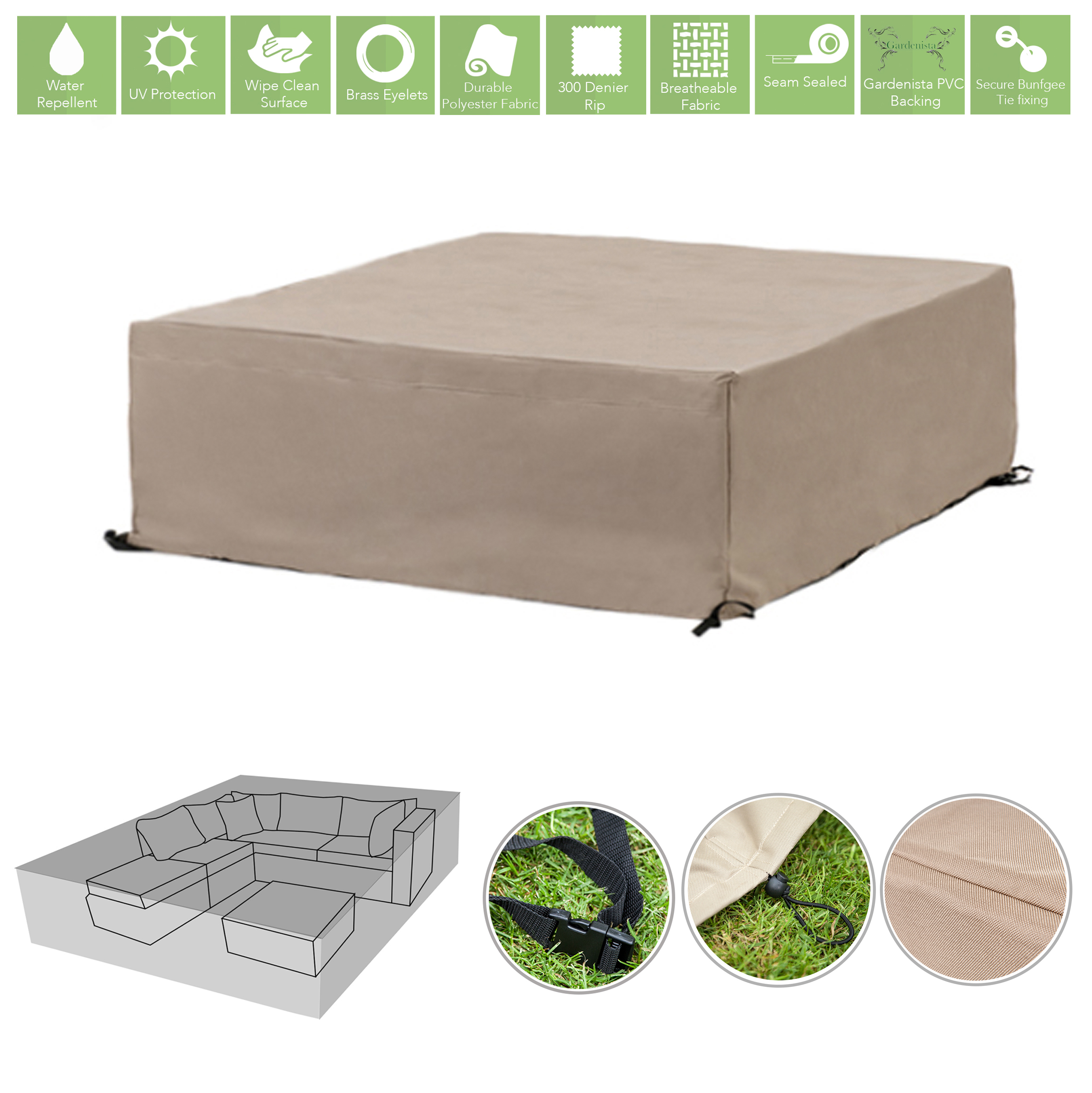 Gardenista garden patio furniture covers waterproof heavy for Waterproof covers for outdoor furniture uk
