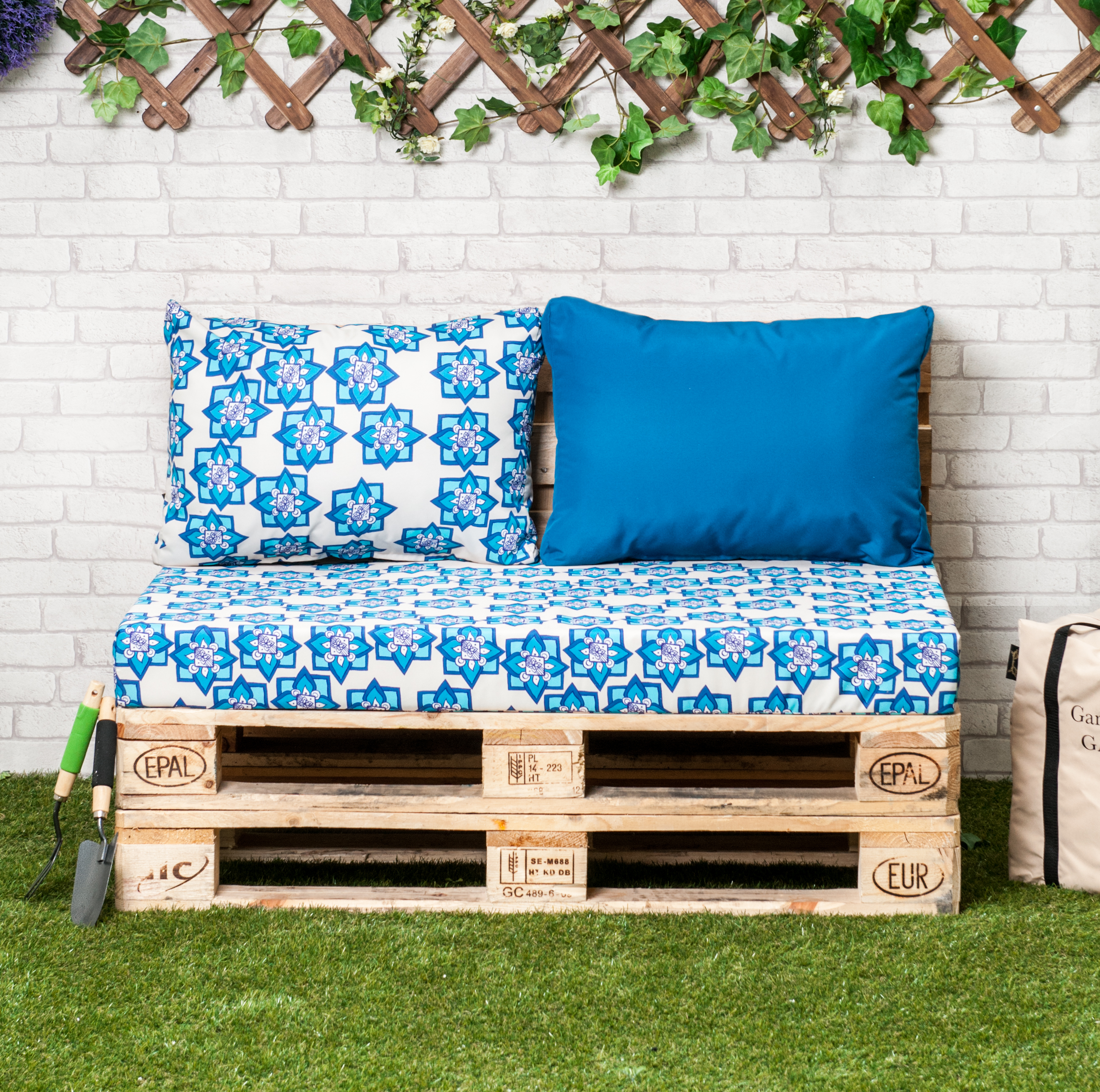 Outdoor Patio Furniture Dimensions: Designer Prints Euro Pallet Seating Cushion Pads Garden