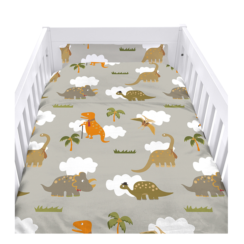 Childrens Cot Size Duvet Cover Set With Pillow Case